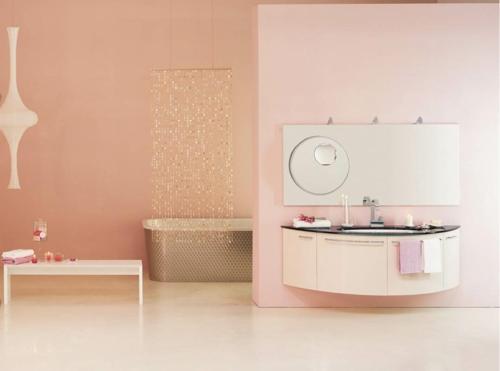 rosa badezimmer designs feminine minimalistisch badewanne aufteiler