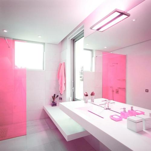 In farbe gebadet elegante ideen f r rosa badezimmer designs - Farbe badezimmer ...