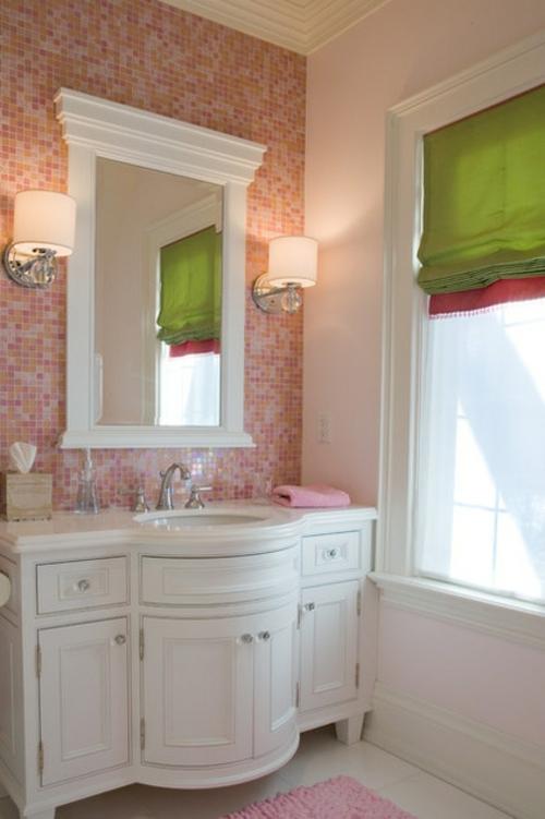 Badezimmer Design Mosaik In Rosa Und Weiß Pictures to pin on ...