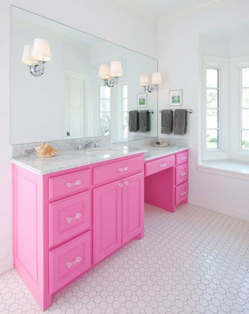 in farbe gebadet: elegante ideen für rosa badezimmer designs