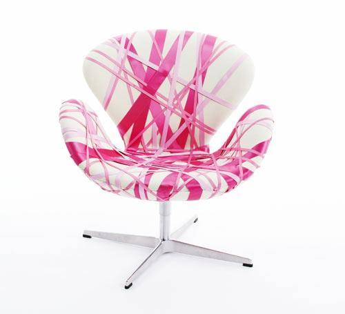 rosa möbel sessel originell design bequem