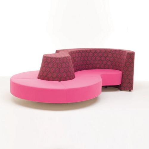 designer rosa möbel modern eigenartig design rücklehne