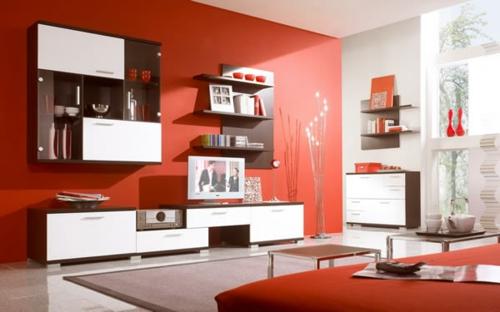 Das Wohnzimmer Attraktiv Einrichten - 70 Originelle, Moderne Designs Wohnzimmer Rot Beige