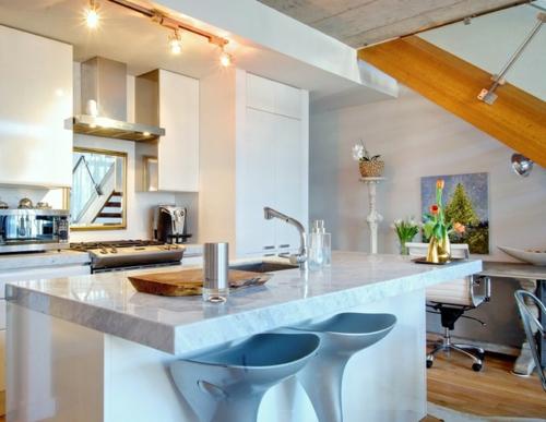 ruhiges cooles haus design küche kochherd barstühle spüle