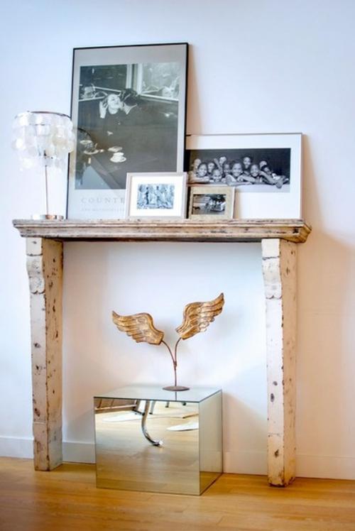ruhiges cooles haus design rustikal kaminsims  dekoration bilder