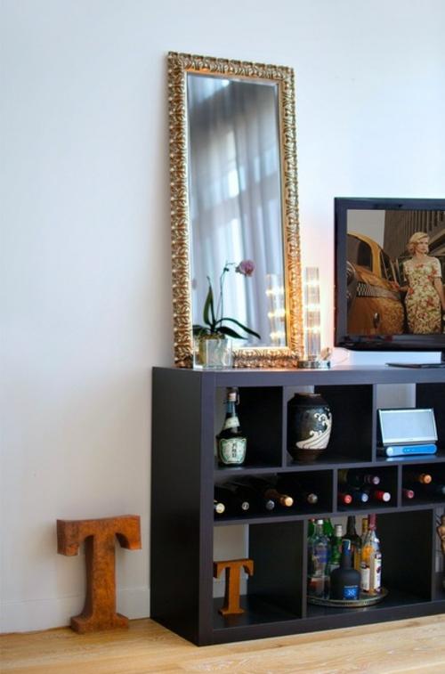 ruhiges cooles haus design schminktisch spiegel rahmen vergoldet