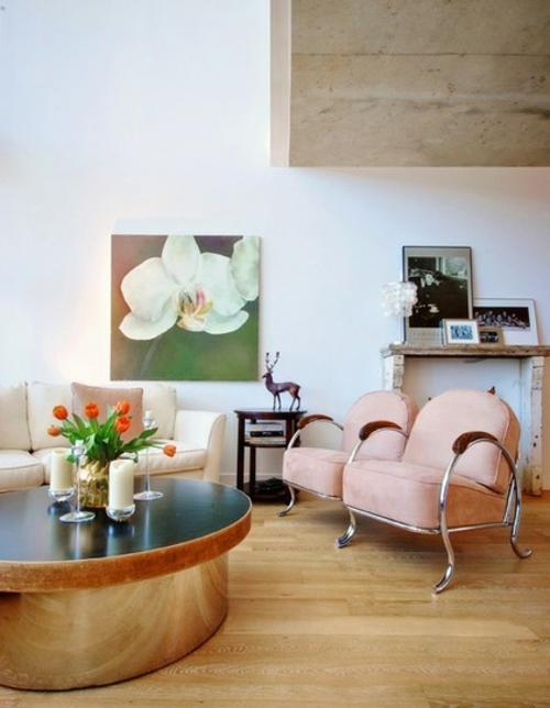 ruhiges cooles haus design wohnbereich malerei frisches interior