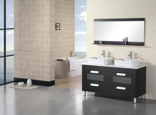 säule badezimmer fliesen wand fußboden spiegel waschbecken