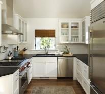 sch ne design ideen f r kleine k chen schicke einrichtung. Black Bedroom Furniture Sets. Home Design Ideas