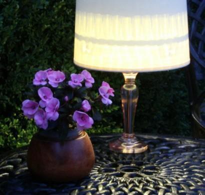 sch ne tischlampe selber machen erhellen sie ihre nacht im freien. Black Bedroom Furniture Sets. Home Design Ideas