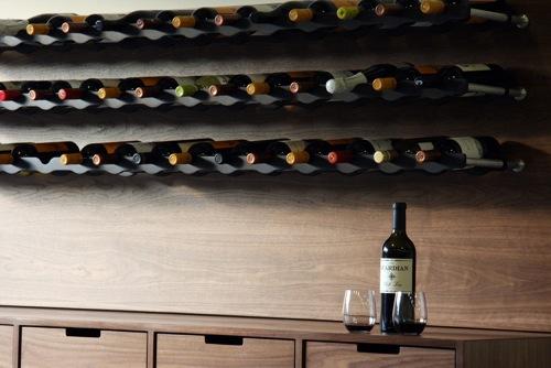 schicke Weinregale und Ständer aus Holz flaschen