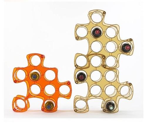 schicke Weinregale und Ständer aus Holz puzzle