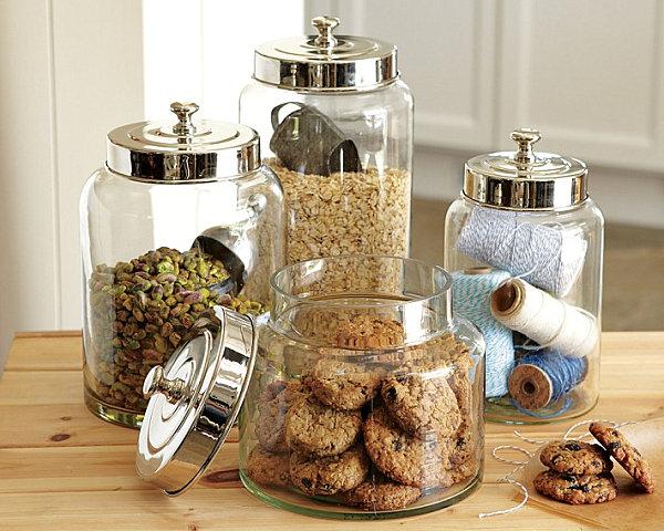 schicke behälter für lebensmittel glas metall