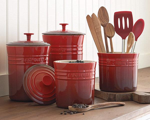 schicke behälter für lebensmittel rot holz  besteck