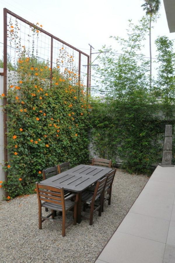 schicke ideen für übertöpfe bambus und kriechende pflanzen