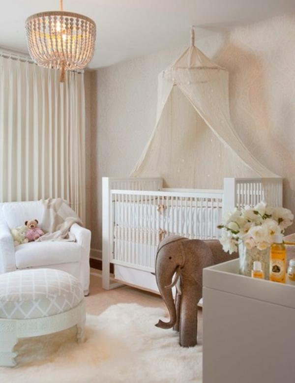 Babyzimmer weiß beige  12 schicke Ideen für Kinderzimmer - tolle geschmackvolle Einrichtung