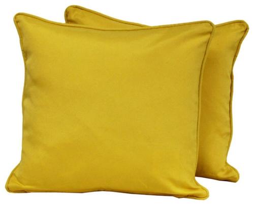 schicke deko ideen fürs wohnzimmer gelb samt