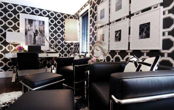 schwarz weiß bilder eine exquisite home office atmosphäre
