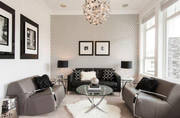 schwarz weiß bilder interior elegante anspruchsvolle einrichtung