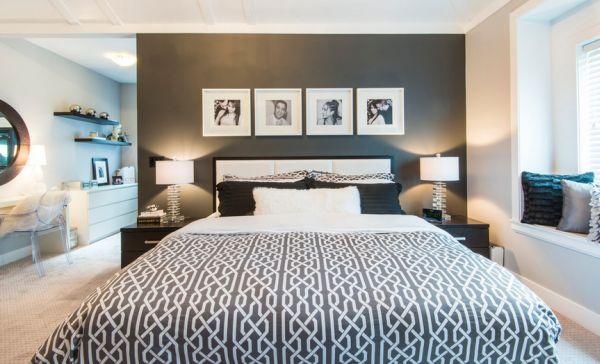 schwarz weiß bilder interior exklusive im schlafzimmer
