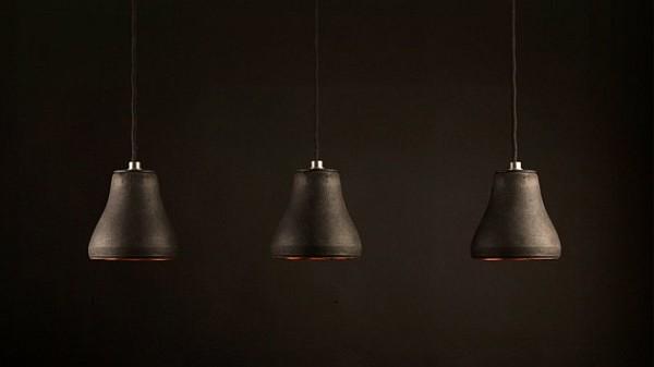 schwarze goldene lampe hängend design ergonomisch