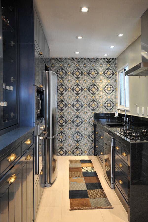 schwarze küchenmöbel und ausgefallene details tolle wand dekoration erfrischend