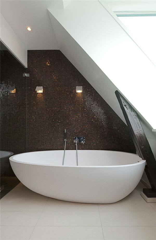 loftwohnung in schweden elegant badezimmer badewanne