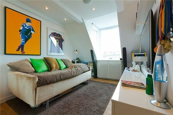 loftwohnung in schweden elegant sofa bequem