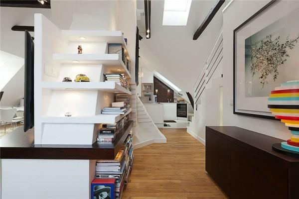 schwedisches loft apartment elegant treppen stufen