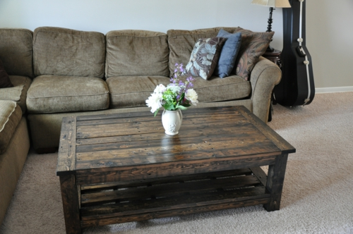 selbstgemachte Holz Möbel aus Paletten couchtisch teppich sofa