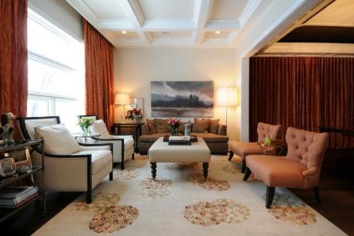 sessel massiv klassisch design wohnzimmer gemälde stehlampe tischlampe