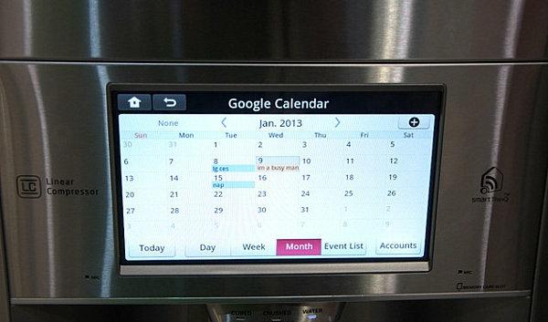smart home technologie kühlschrank datum