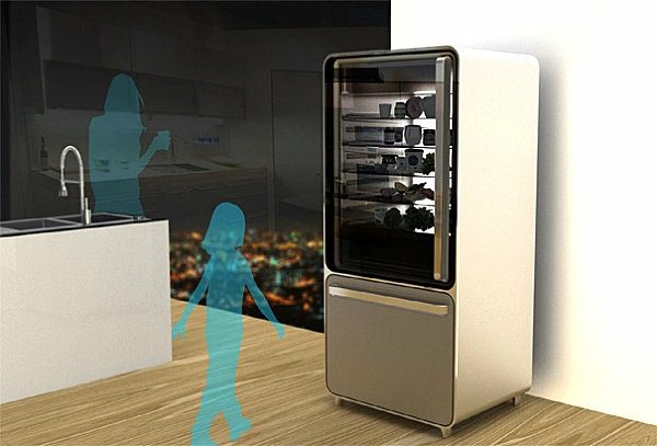 smart home technologie kühlschrank glastür