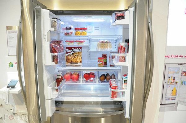smart home technologie kühlschrank glatt glanzvoll lg
