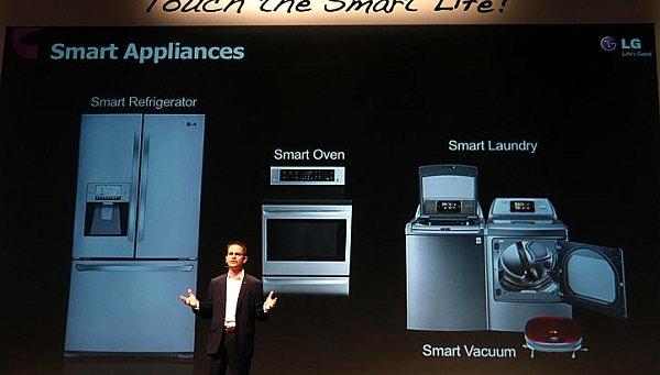 smart home technologie kühlschrank waschmaschine präsentation