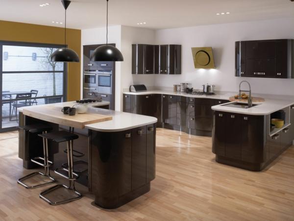 spülen-für-die-küche-einrichtung-holz-oberflächen-dunkel