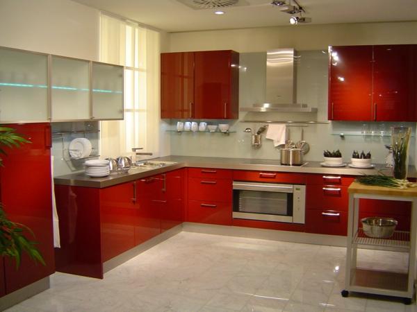 spülen für die küche einrichtung rot glänzend texturen modern
