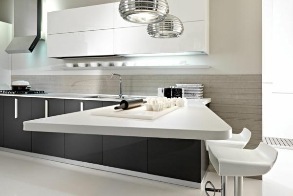 spülen für die küche einrichtung weiß schwarz kombiniert