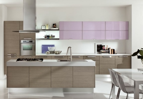 spülen für die küche holz einrichtung oberschränke glanzvoll lila