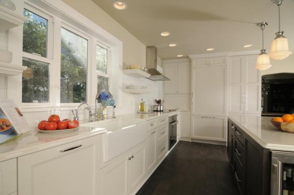 spülen für die küche weiß einrichtung  boden arbeitsplatte