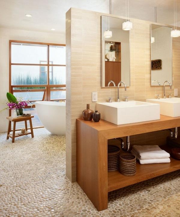 spa ausstattung im badezimmer waschbecken modern relaxen