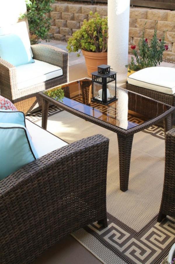 terrasse der woche couchtisch mit glas oberfläche