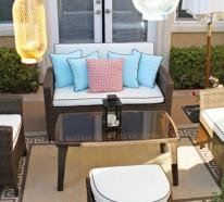 Terrasse der Woche: Mit Schnäppchenfunden können Sie einen tollen Außenraum gestalten
