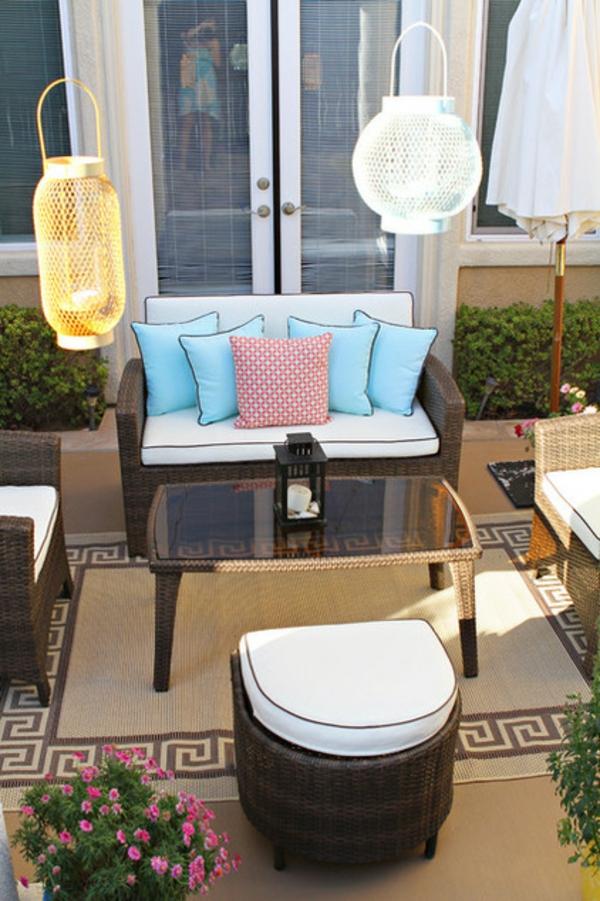 terrasse der woche französische türen kerzen laternen