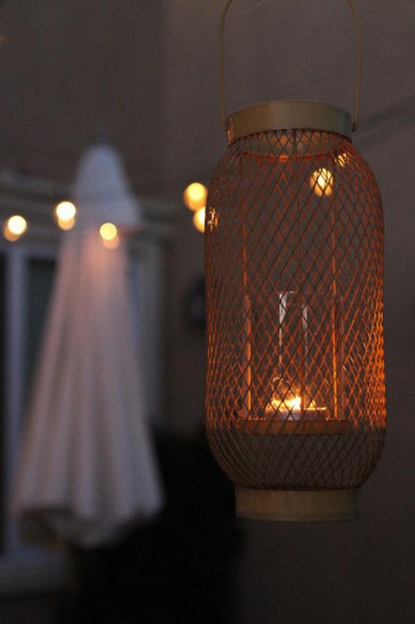 terrasse der woche romantisch mit teelichtern