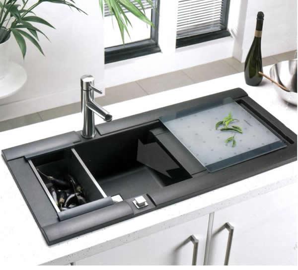 Küche spülbecken küche schwarz : Tolle Spülen Designs - 43 tolle ...
