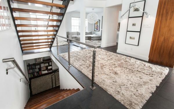 traumhafte designer wohnung bücherregale im untergeschoss