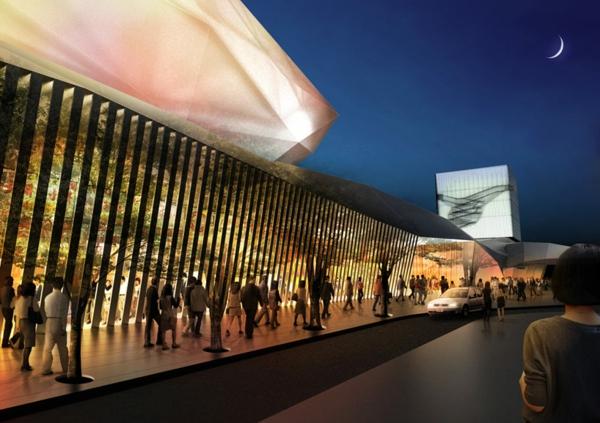 ultra moderne und innovative architektur ausreichende gehewege futuristisches design