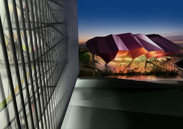 ultra moderne und innovative architektur die ehrenhalle