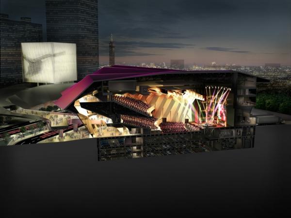 ultra moderne und innovative architektur die haupthalle von innen